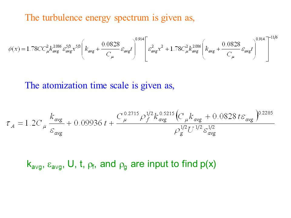The turbulence energy spectrum is given as,