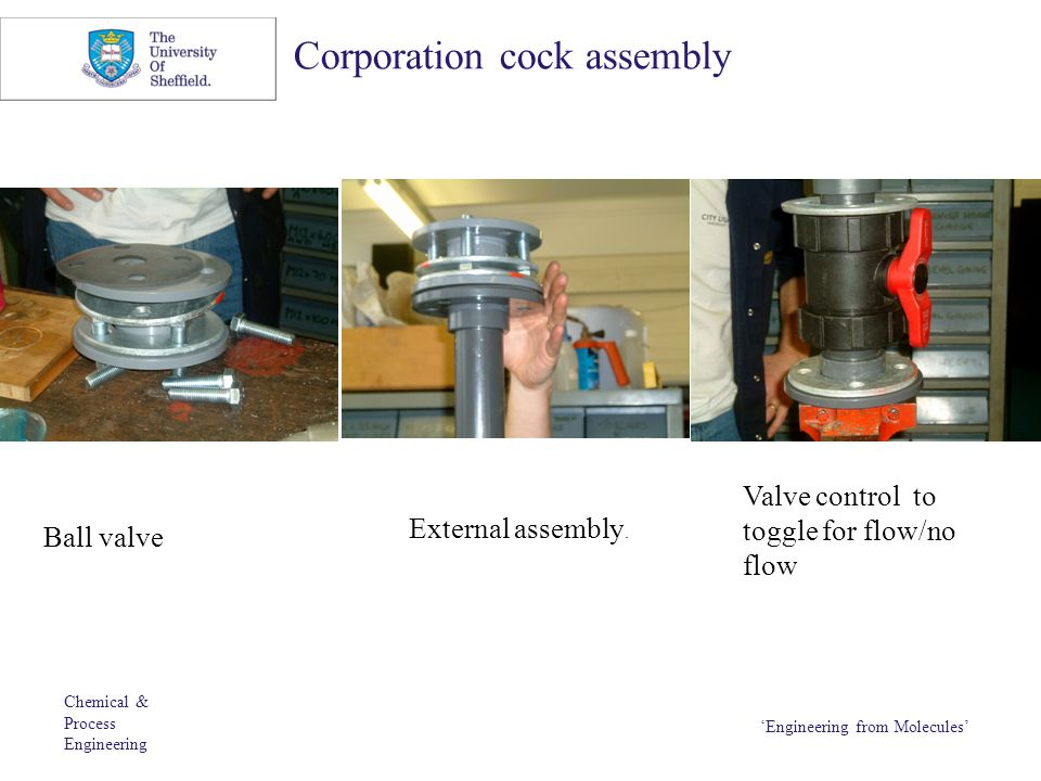 Corporation cock assembly