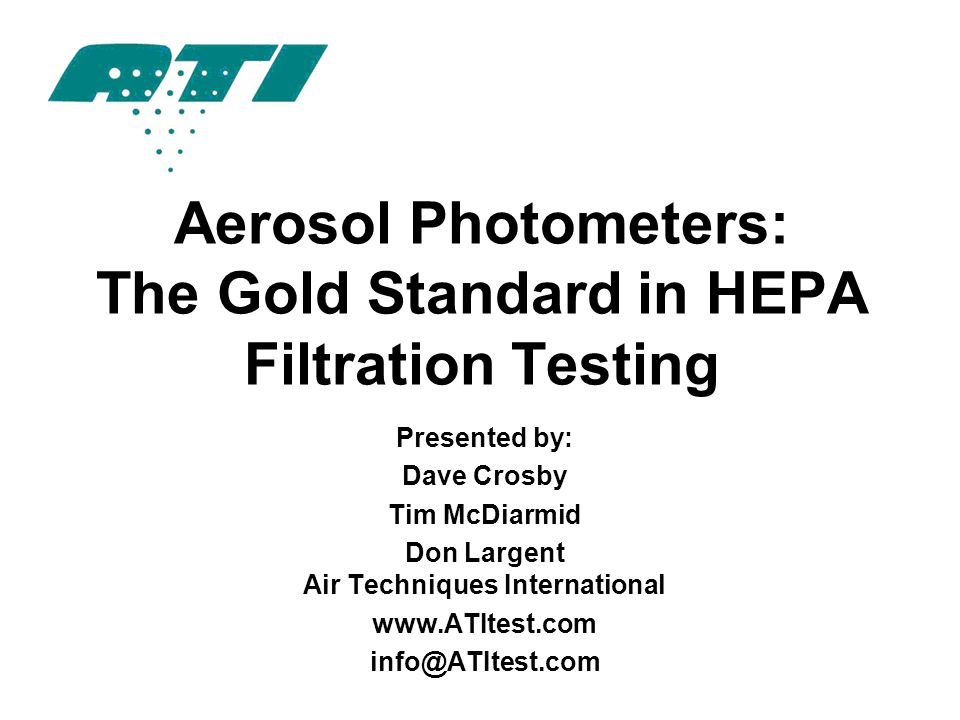Aerosol Photometers: The Gold Standard in HEPA Filtration Testing