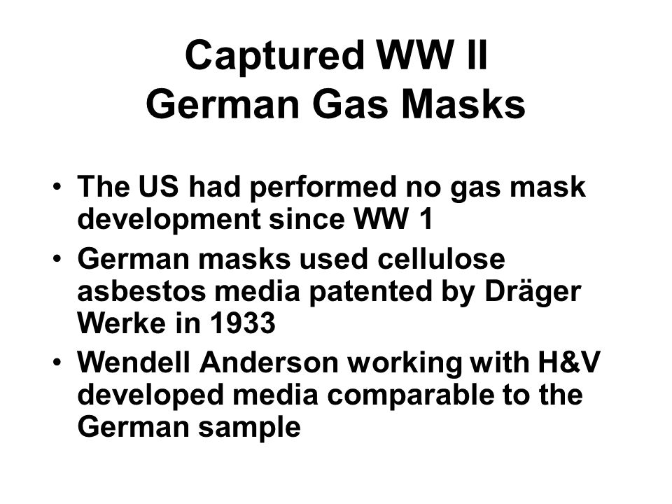 Captured WW II German Gas Masks