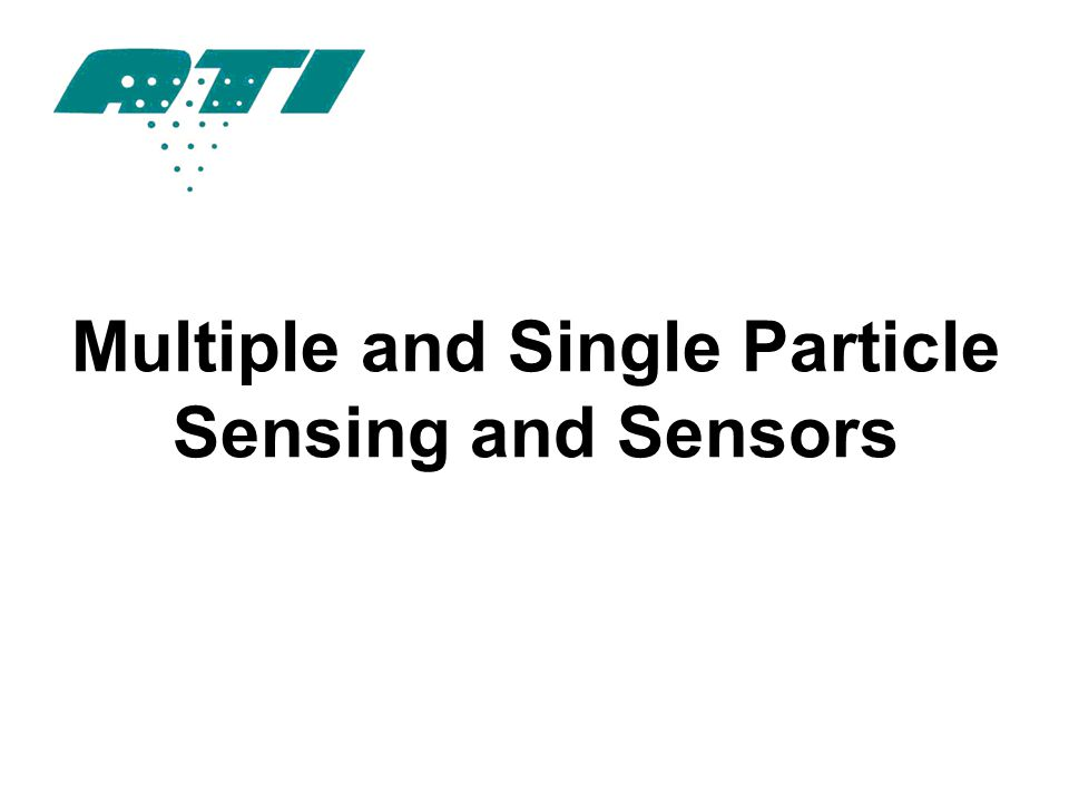 Multiple and Single Particle Sensing and Sensors