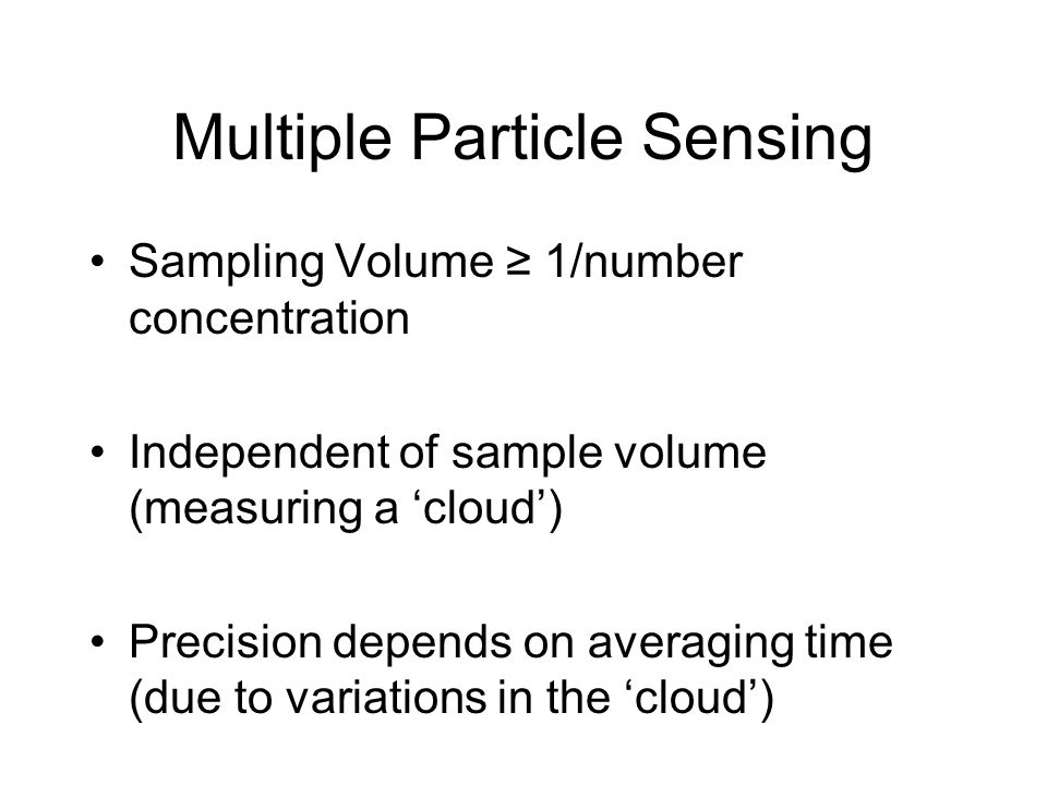 Multiple Particle Sensing
