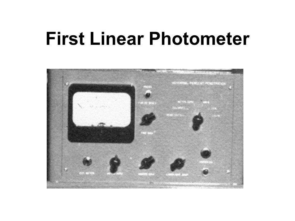 First Linear Photometer