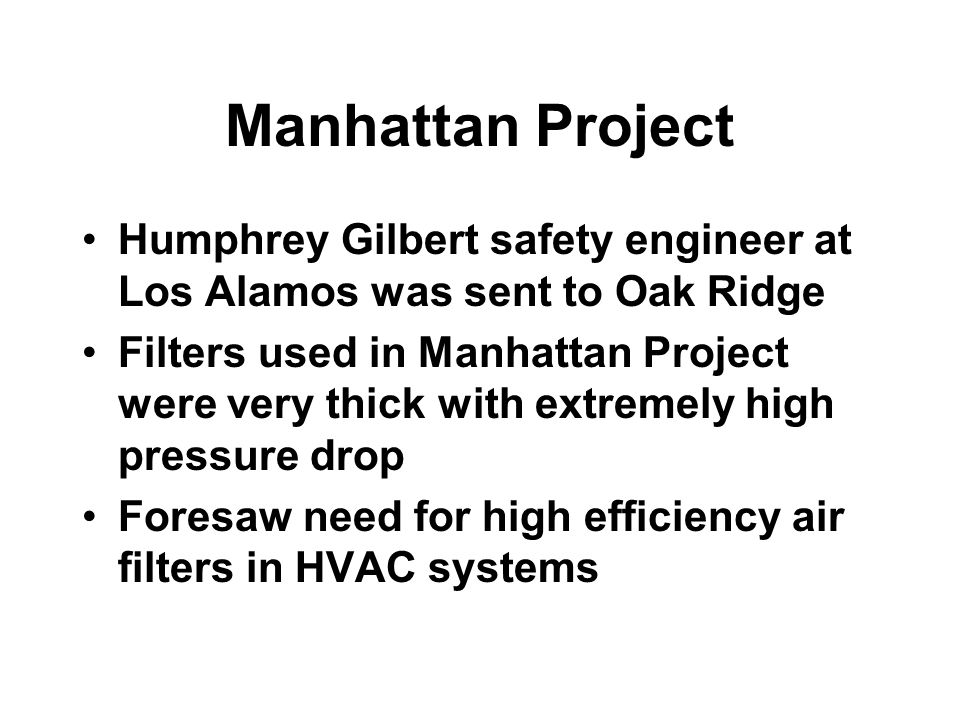 Manhattan Project Humphrey Gilbert safety engineer at Los Alamos was sent to Oak Ridge.