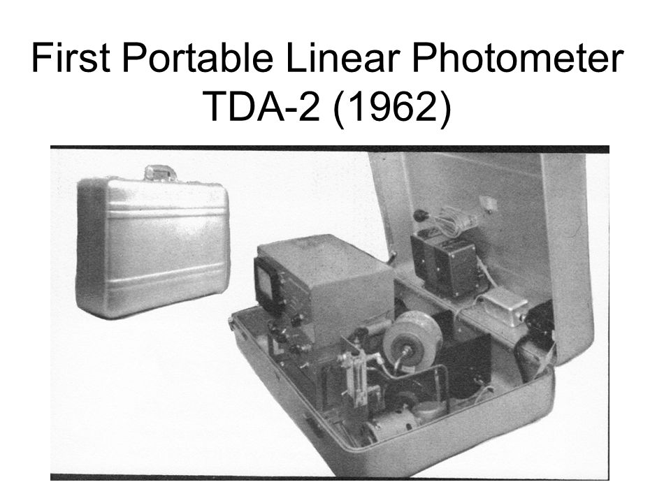 First Portable Linear Photometer TDA-2 (1962)