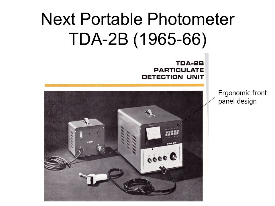 Next Portable Photometer TDA-2B (1965-66)