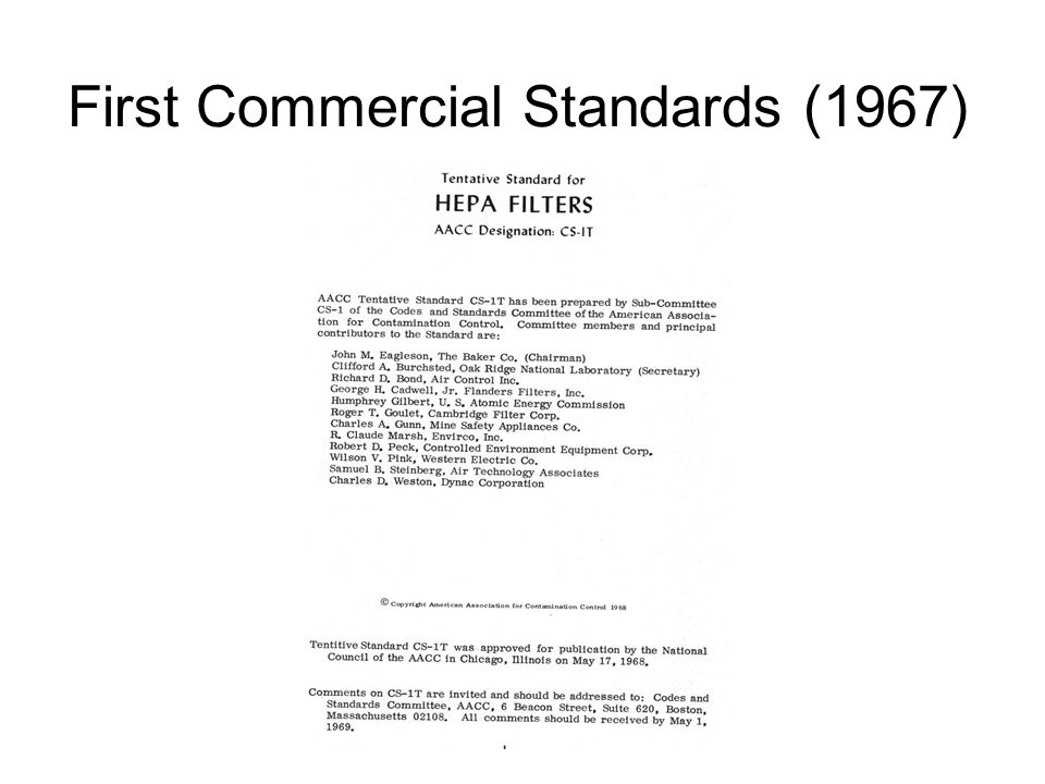 First Commercial Standards (1967)