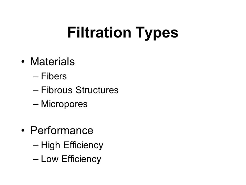 Filtration Types Materials Performance Fibers Fibrous Structures