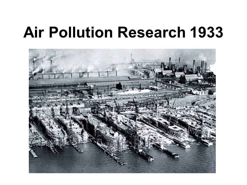 Air Pollution Research 1933