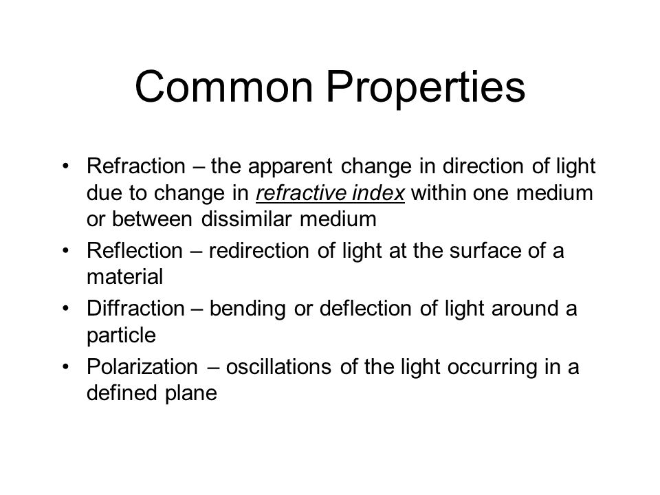 Common Properties