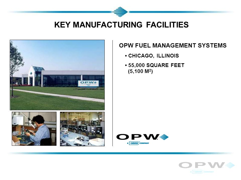 KEY MANUFACTURING FACILITIES