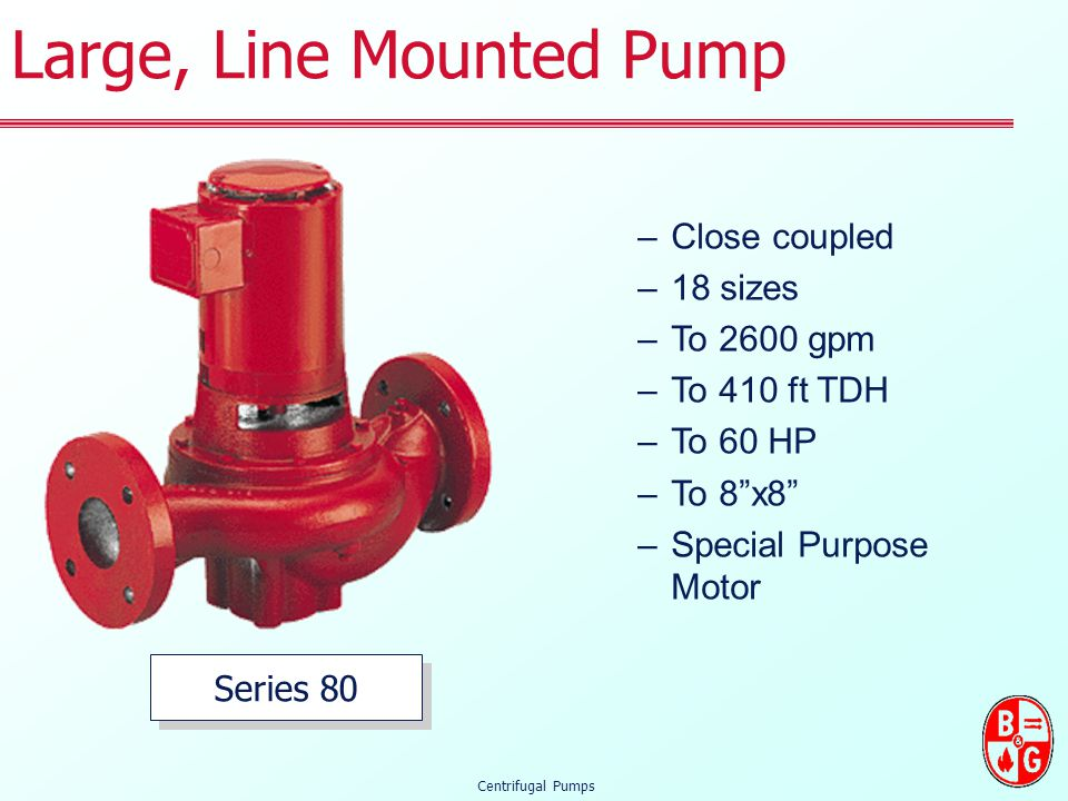 Large, Line Mounted Pump