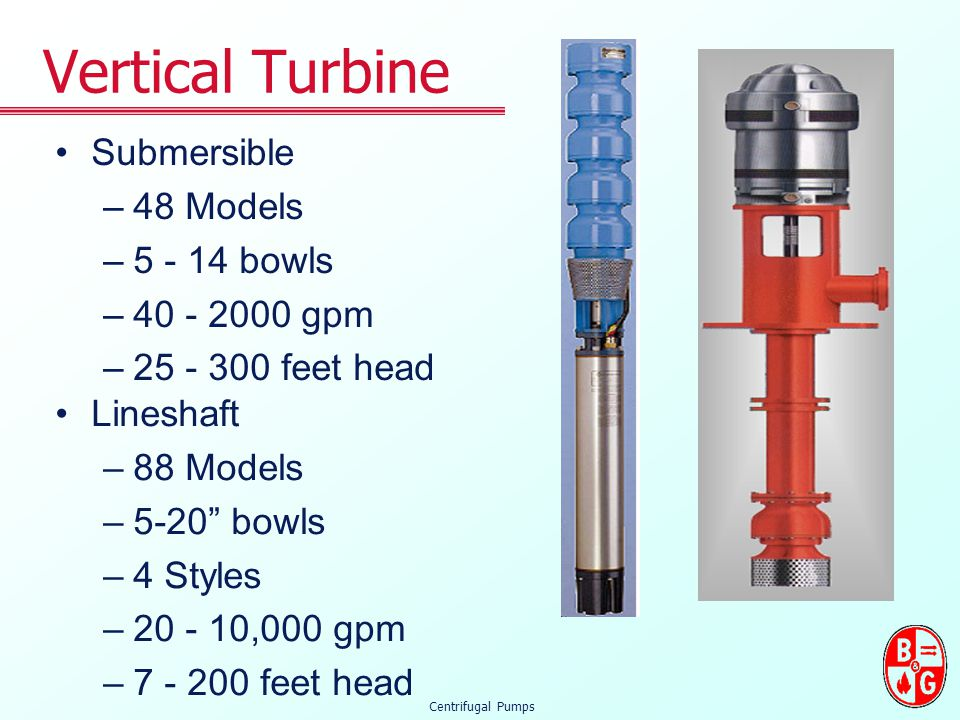 Vertical Turbine Submersible 48 Models 5 - 14 bowls 40 - 2000 gpm