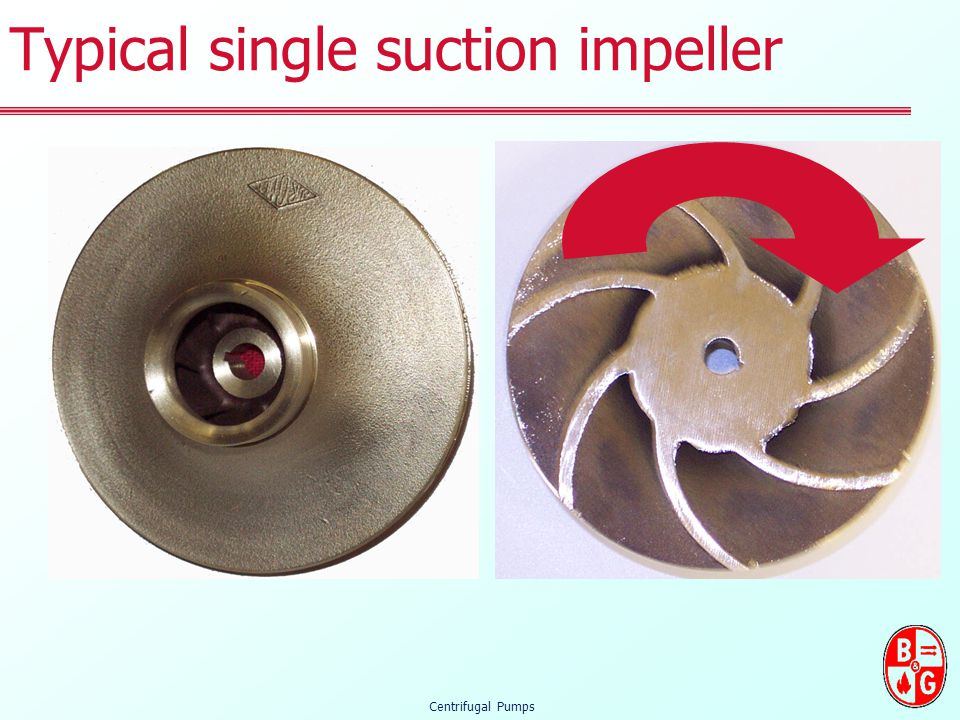 Typical single suction impeller