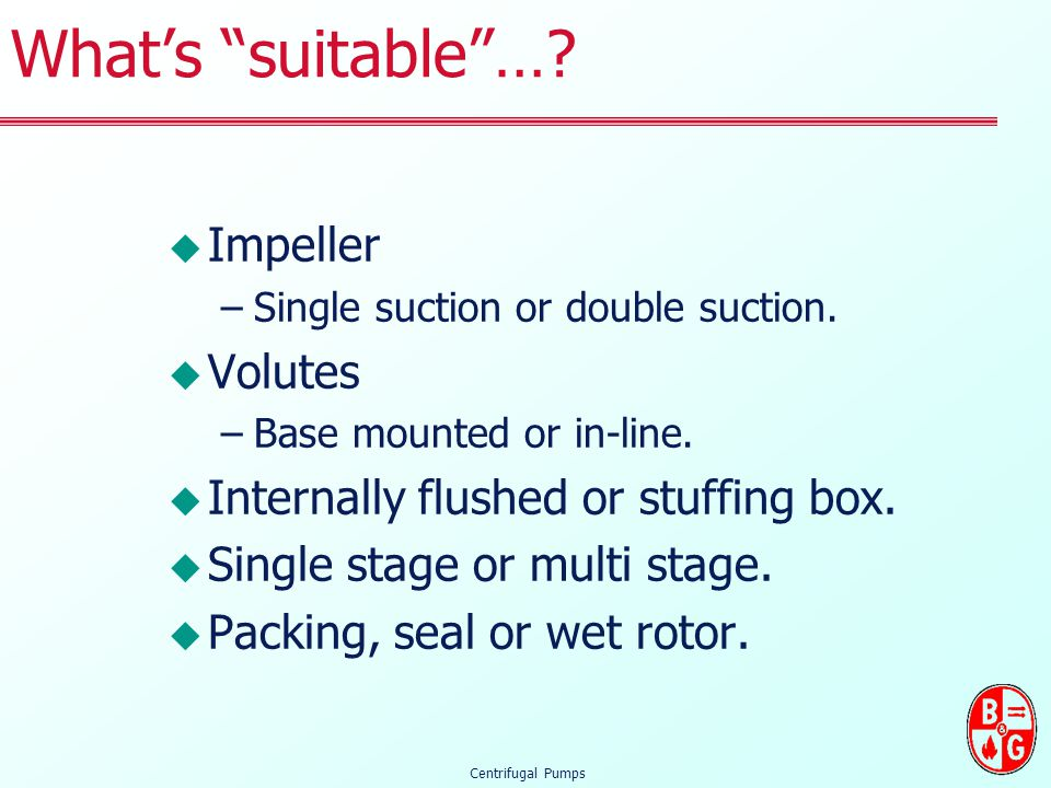 What's suitable … Impeller Volutes
