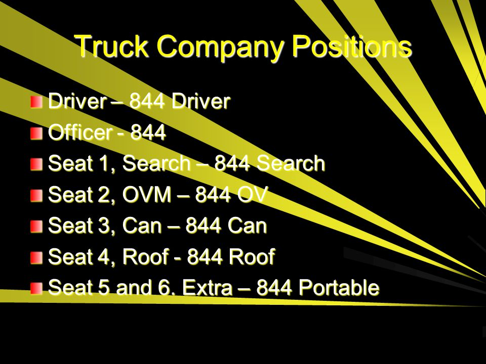 Truck Company Positions
