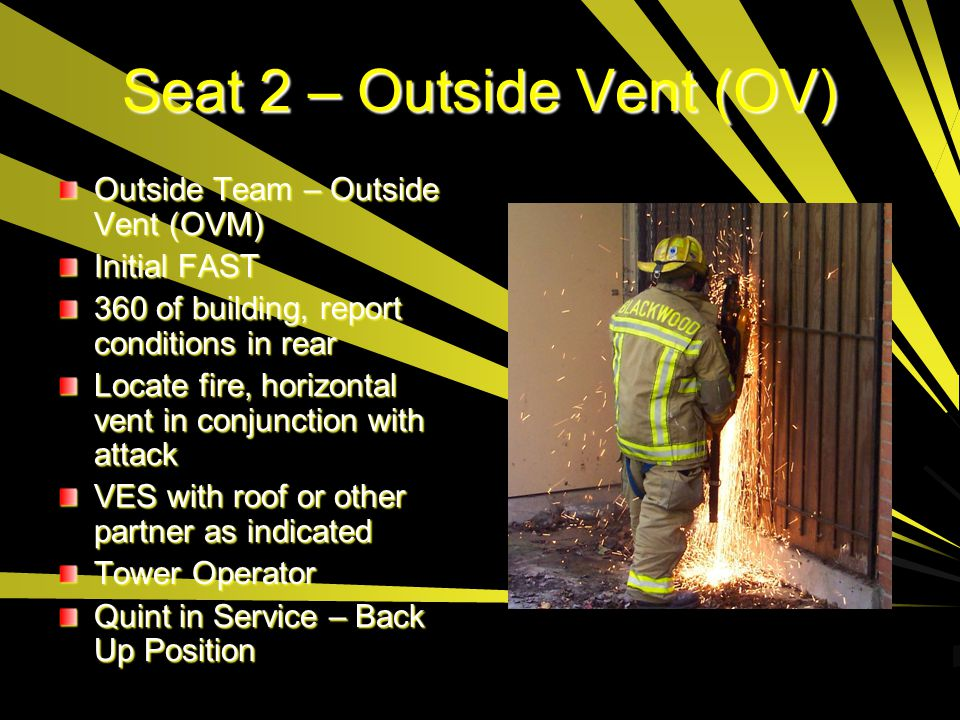 Seat 2 – Outside Vent (OV)