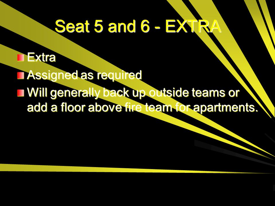 Seat 5 and 6 - EXTRA Extra Assigned as required