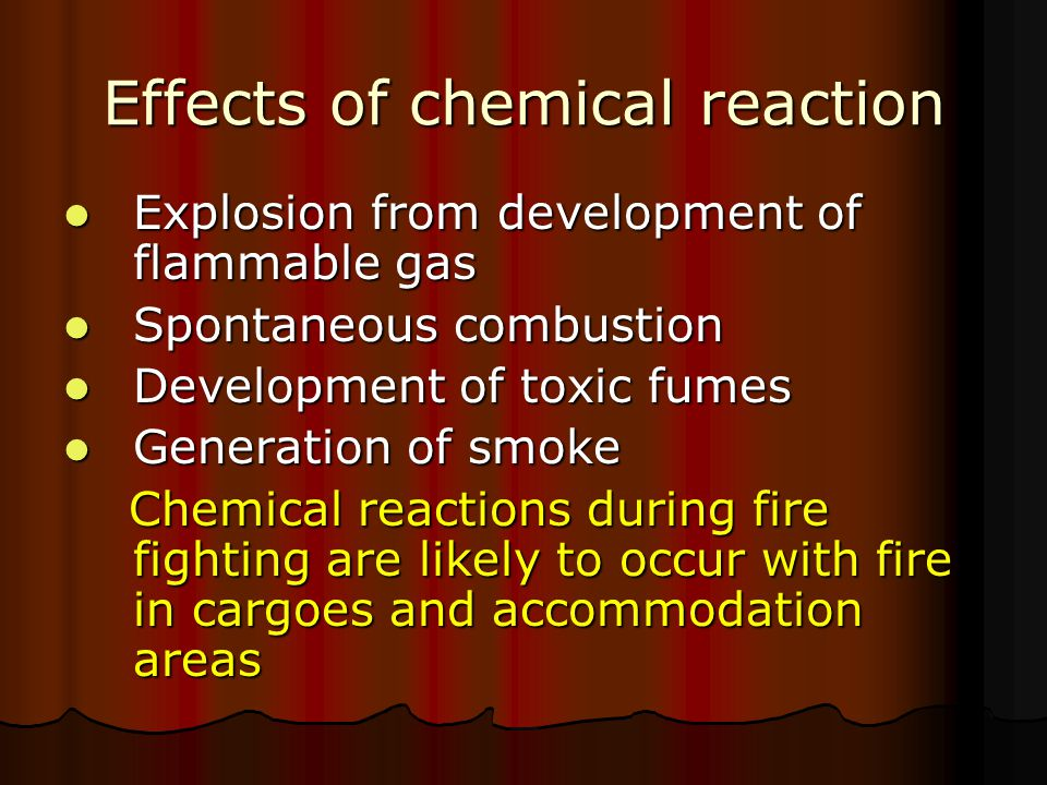 Effects of chemical reaction