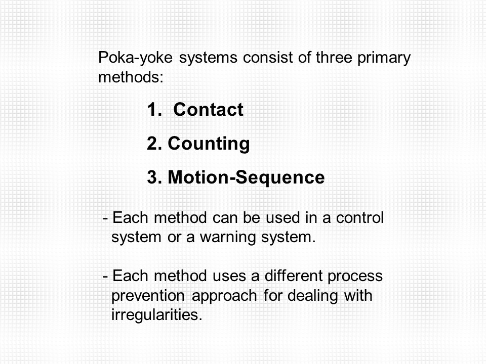 2. Counting 3. Motion-Sequence