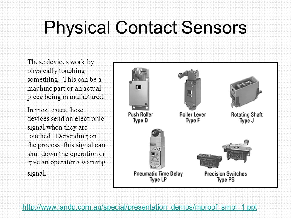 Physical Contact Sensors
