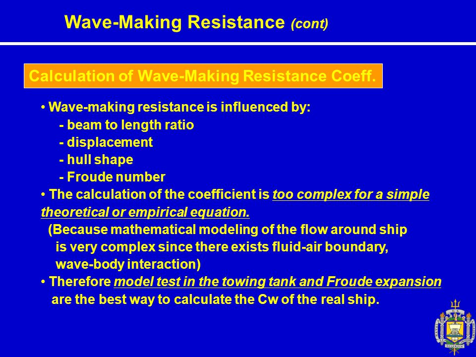 Wave-Making Resistance (cont)