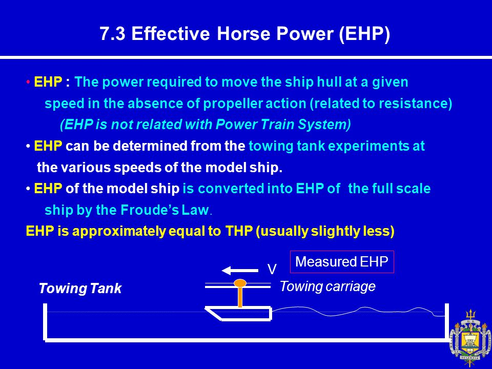 7.3 Effective Horse Power (EHP)