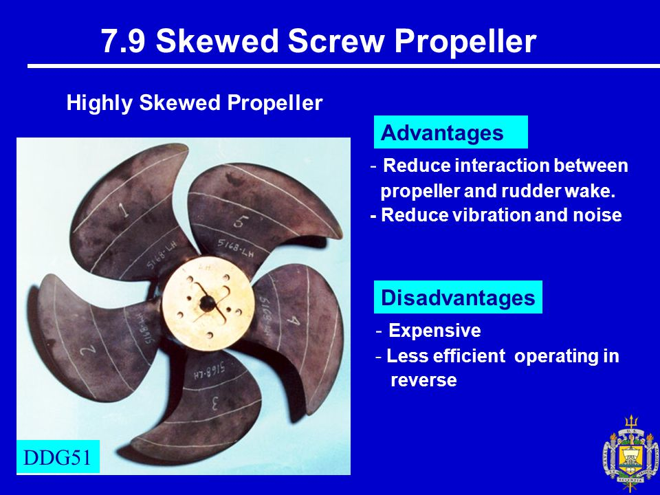 7.9 Skewed Screw Propeller