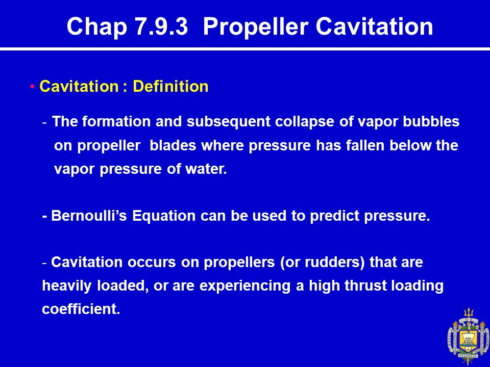 Chap 7.9.3 Propeller Cavitation