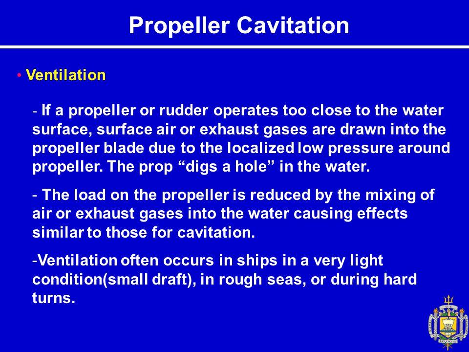 Propeller Cavitation Ventilation