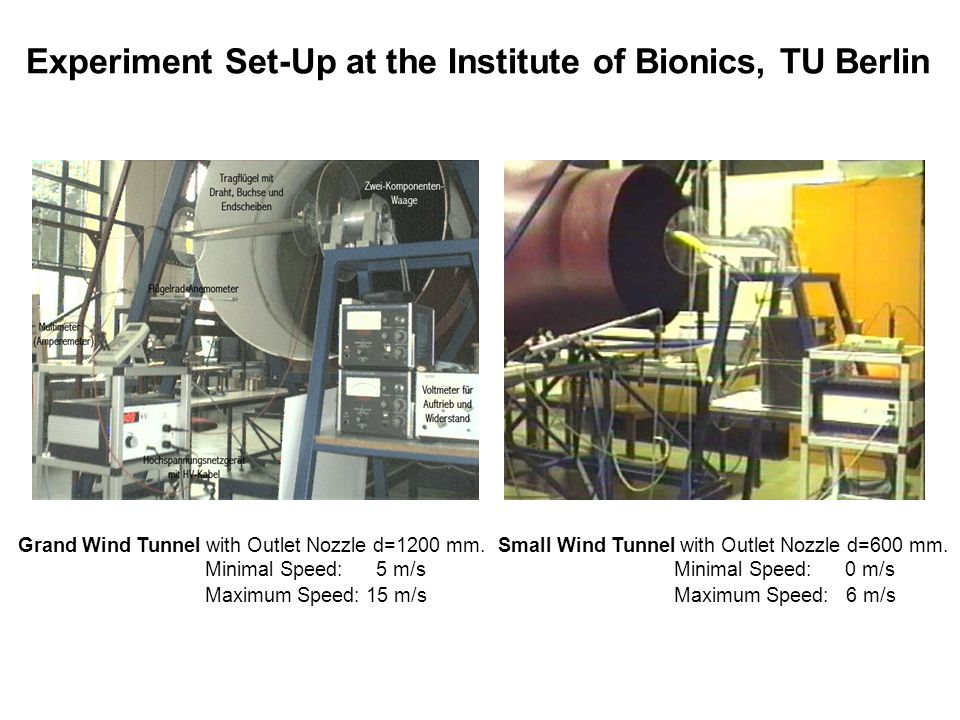 Experiment Set-Up at the Institute of Bionics, TU Berlin