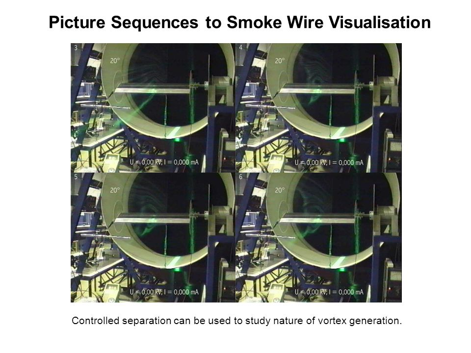 Picture Sequences to Smoke Wire Visualisation