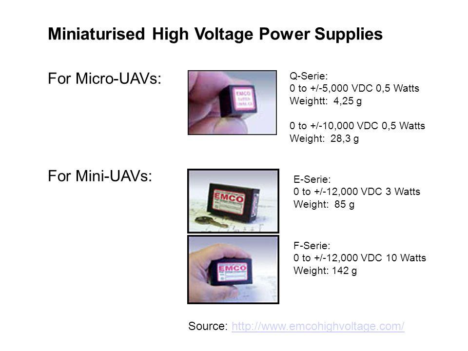 Miniaturised High Voltage Power Supplies