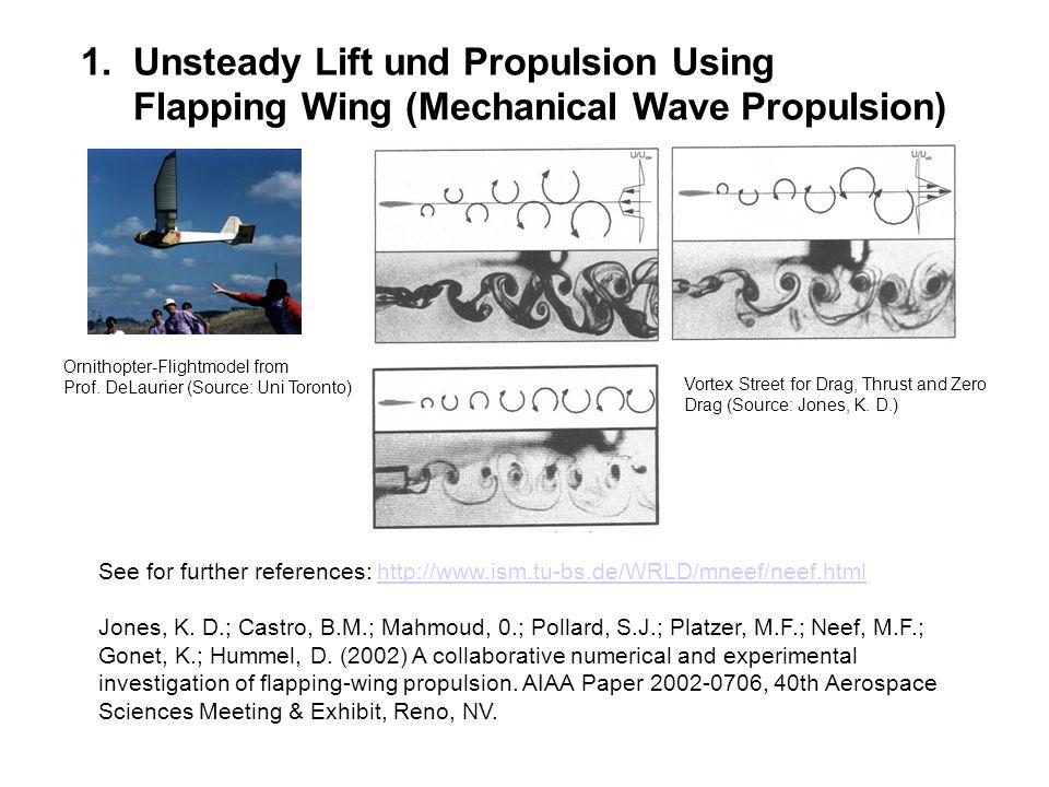 Unsteady Lift und Propulsion Using