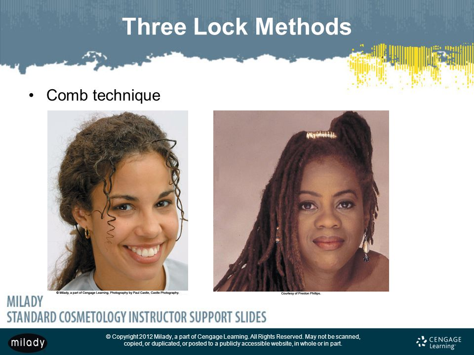 Three Lock Methods Comb technique THREE LOCK METHODS