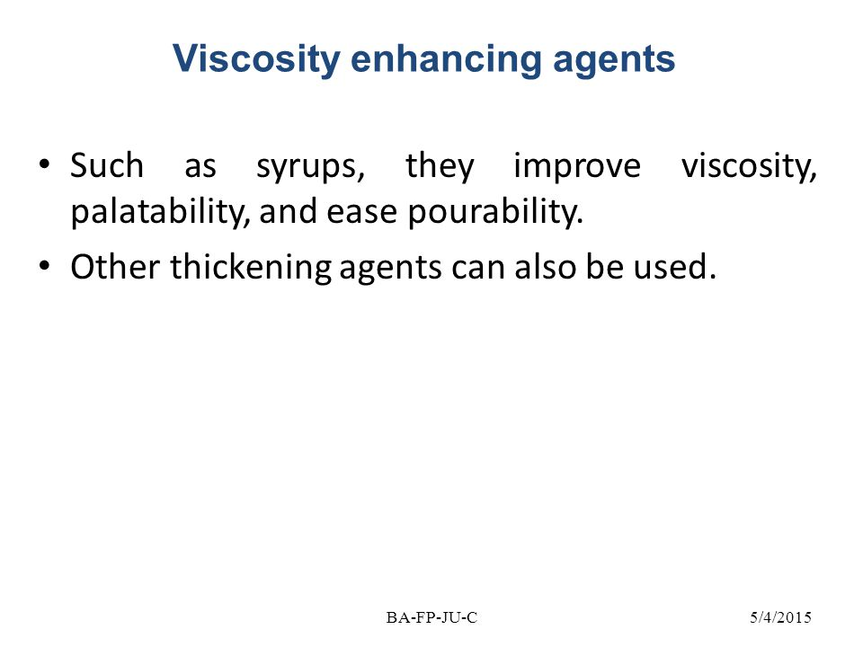 Viscosity enhancing agents
