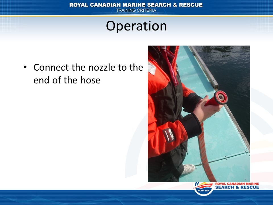Operation Connect the nozzle to the end of the hose