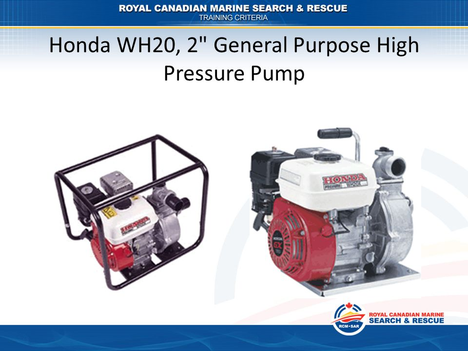 Honda WH20, 2 General Purpose High Pressure Pump