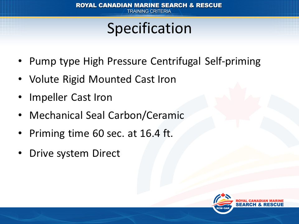 Specification Pump type High Pressure Centrifugal Self-priming