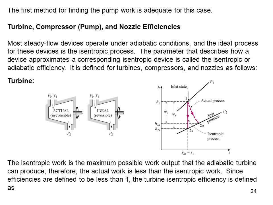 The first method for finding the pump work is adequate for this case.