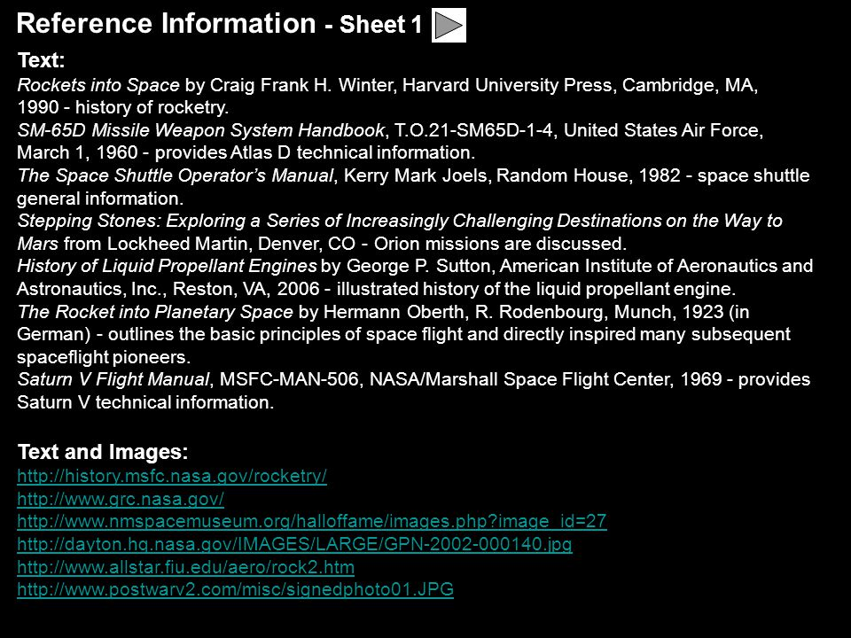 Reference Information - Sheet 1