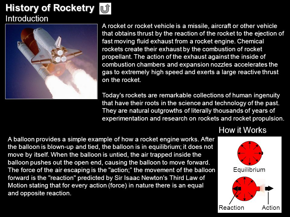 History of Rocketry Introduction How it Works