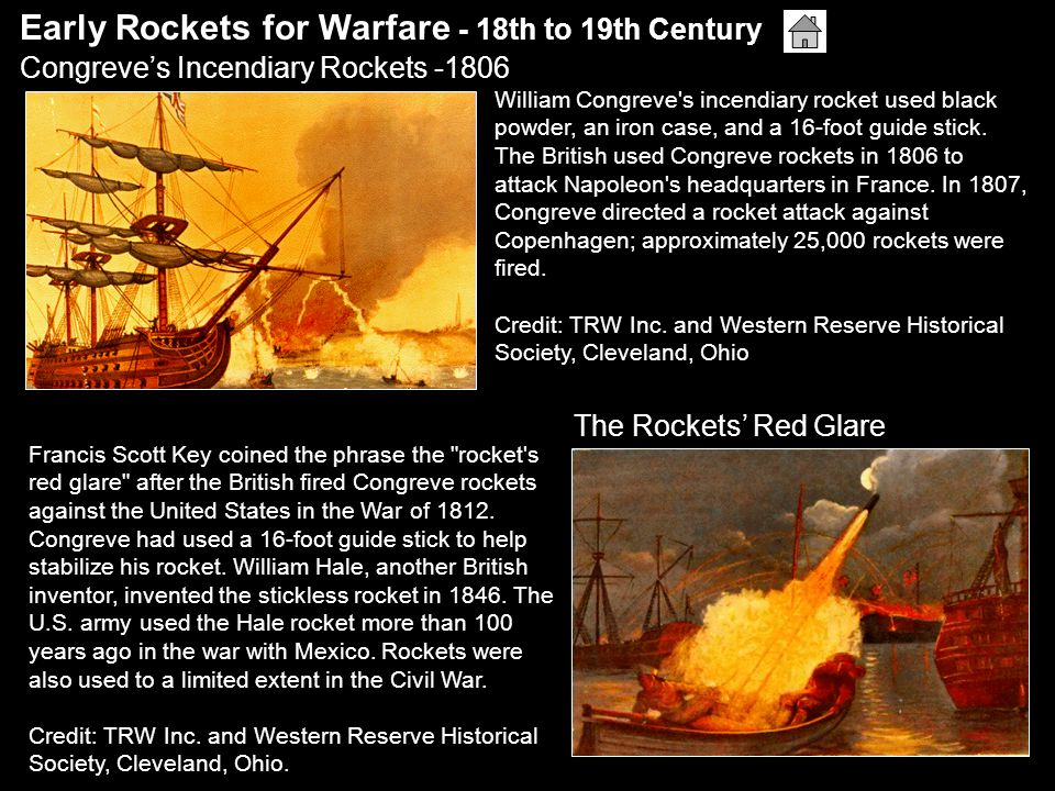 Early Rockets for Warfare - 18th to 19th Century