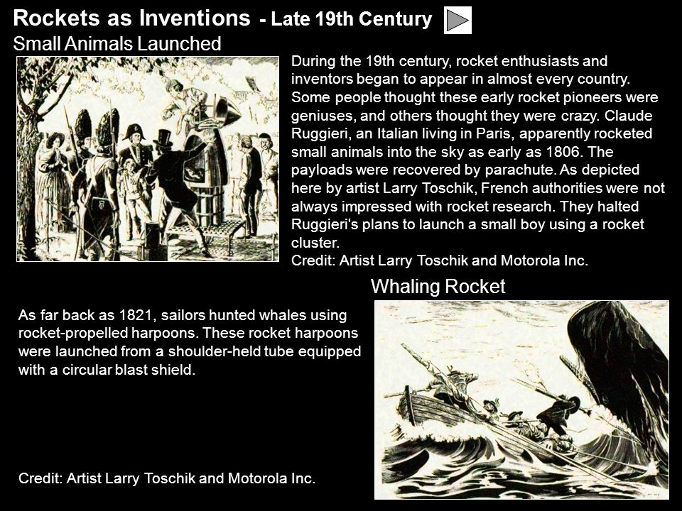 Rockets as Inventions - Late 19th Century