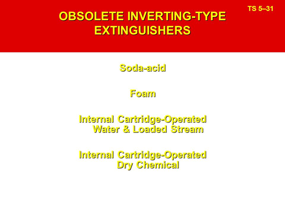 OBSOLETE INVERTING-TYPE EXTINGUISHERS