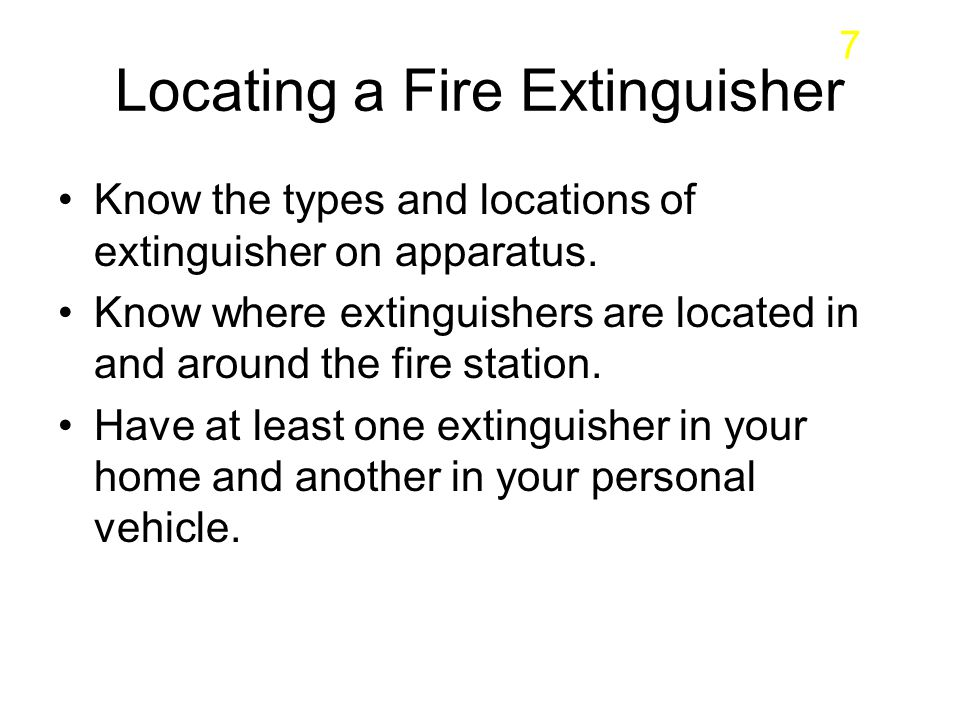 Locating a Fire Extinguisher