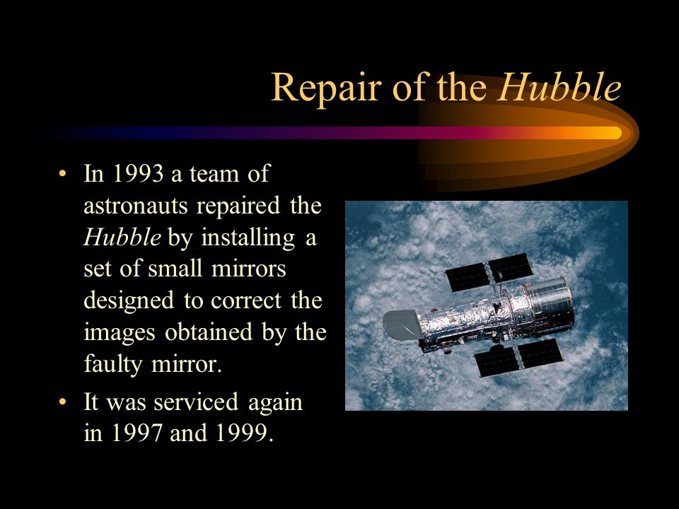 Repair of the Hubble