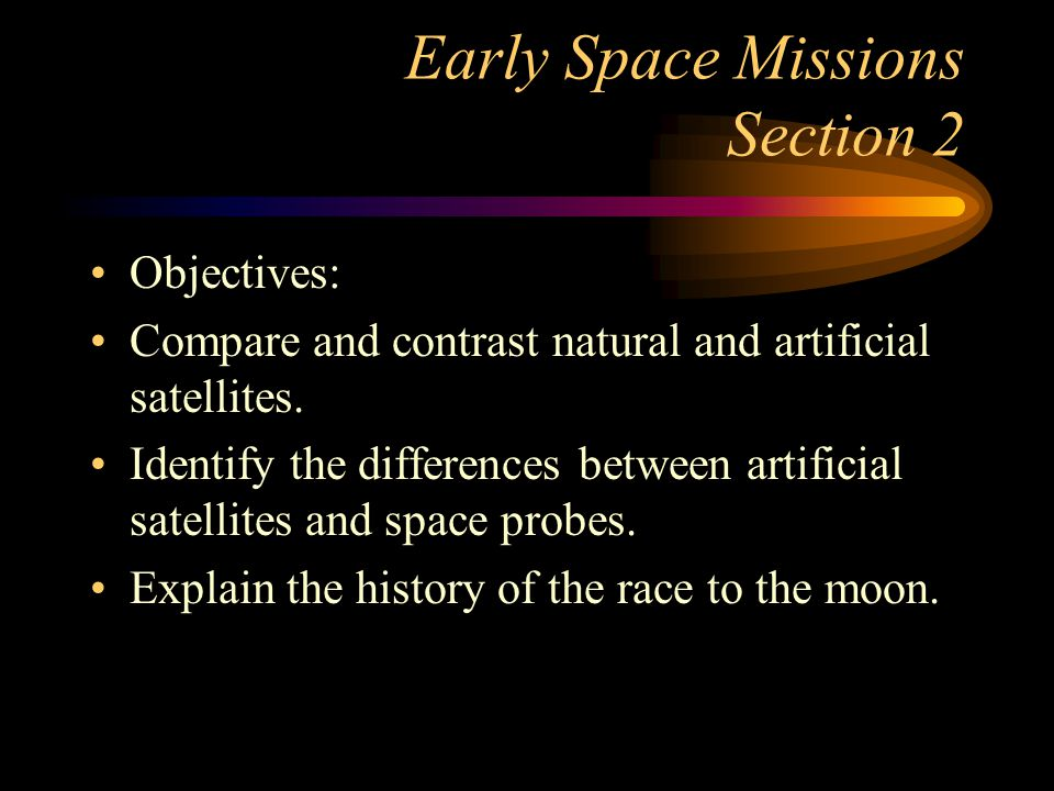 Early Space Missions Section 2