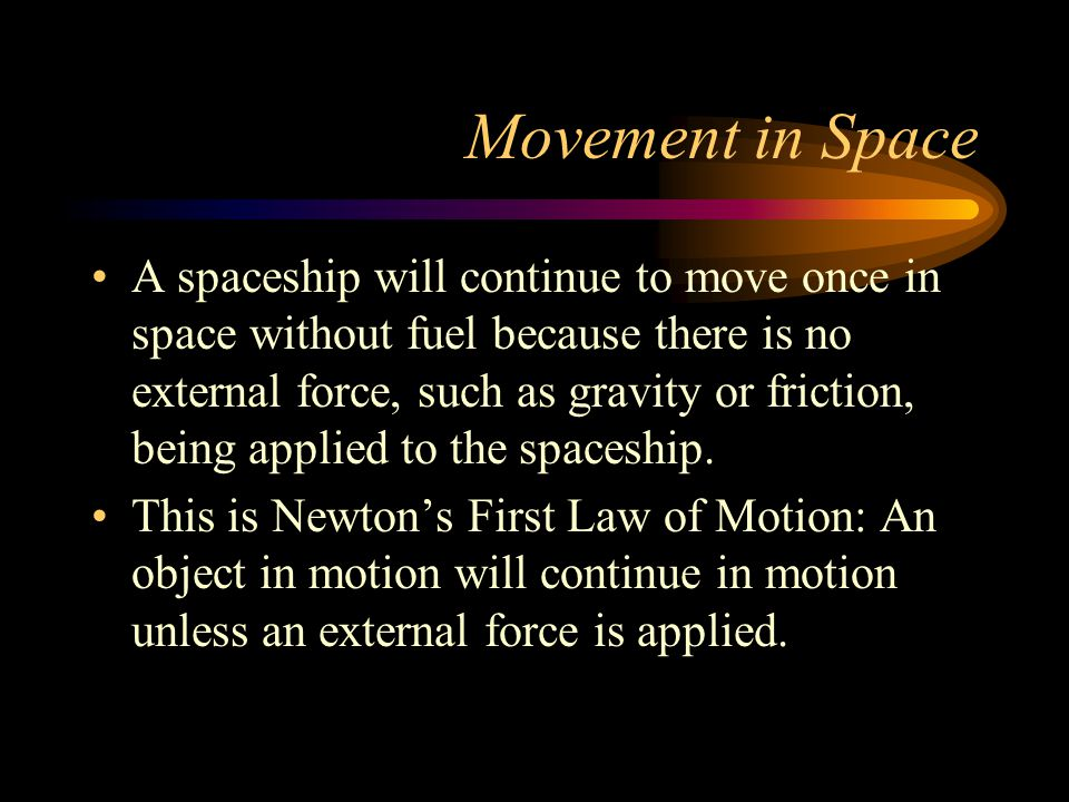 Movement in Space