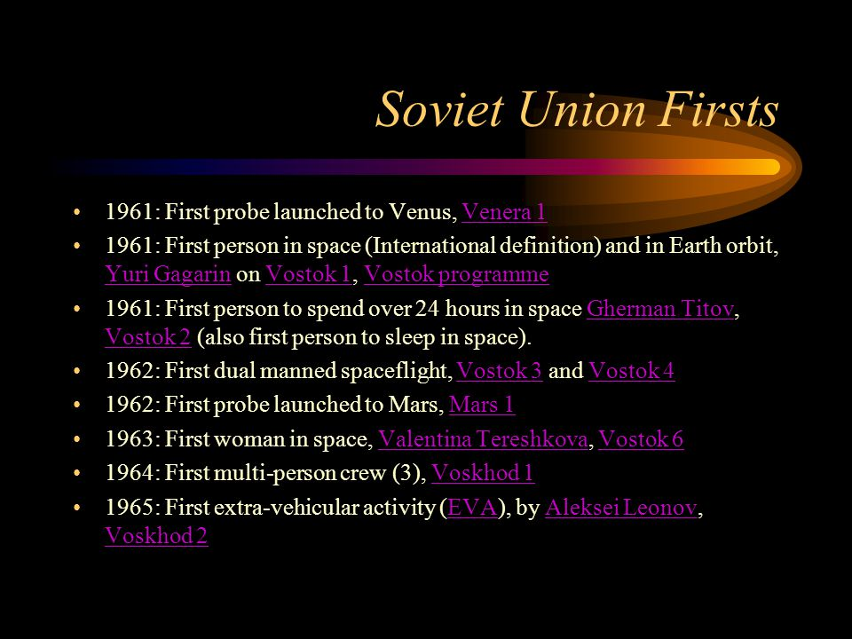 Soviet Union Firsts 1961: First probe launched to Venus, Venera 1